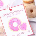 Valentine's Cards + Treats For Teachers With Free Printable!   Six | Printable Valentine Cards For Teachers