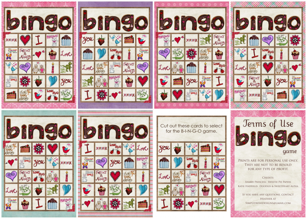 Valentine's Day Bingo Game - Simply Fresh Designs | Printable Mothers Day Bingo Cards