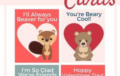 Valentines Day Forest Animal Printable Cards | Valentine's Day Love | Printable Valentines Day Cards For Best Friends
