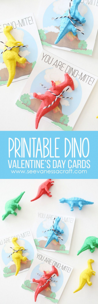 Valentine's Day: Printable Dinosaur Cards For Kids | Kids Craft | Printable Dinosaur Valentines Day Cards