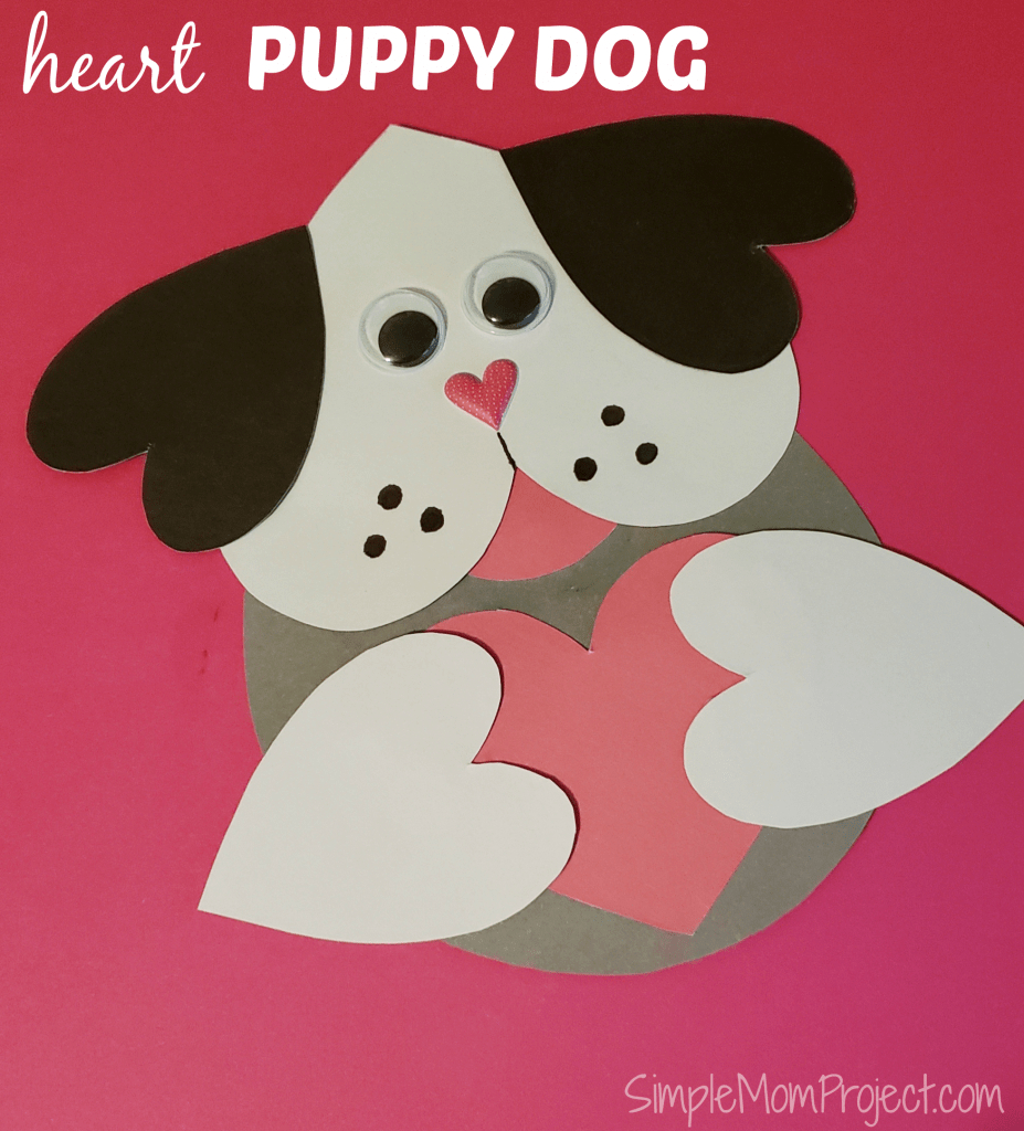 Valentine's Day Puppy Dog Card With Free Printable Template - Simple | Make Your Own Printable Card