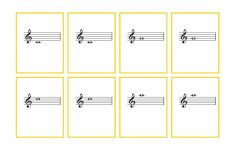 Piano Music Notes Flash Cards Printable