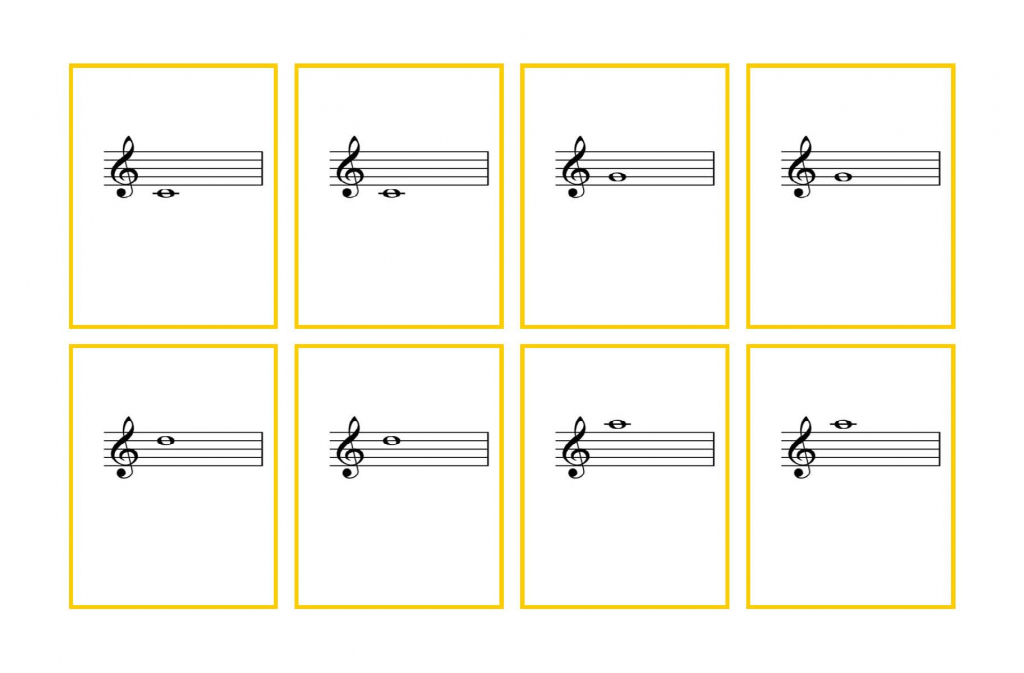 Violin Flash Cards – Third Finger Notes | Denley Music | Piano Music Notes Flash Cards Printable