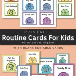 Visual Schedule   Free Printable Routine Cards   Natural Beach Living | Free Printable Schedule Cards