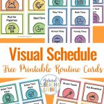 Visual Schedule   Free Printable Routine Cards   Natural Beach Living | Free Printable Schedule Cards For Preschool