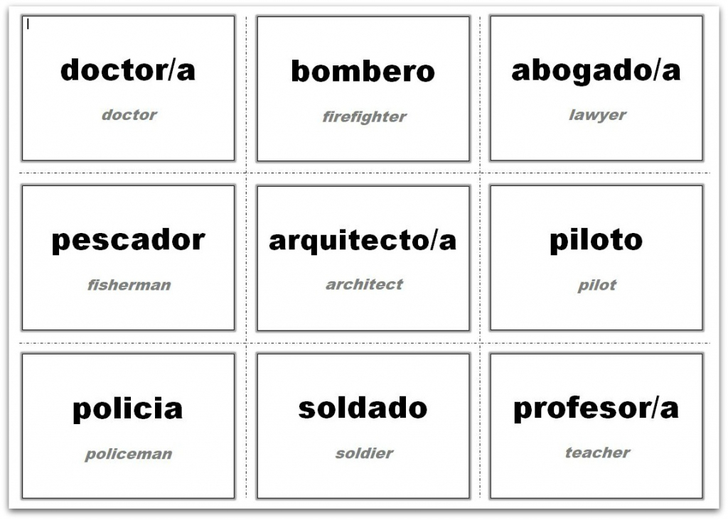 Vocabulary Flash Cards Using Ms Word | Custom Flash Cards Printable