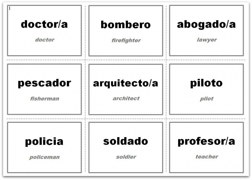 Vocabulary Flash Cards Using Ms Word | Shape Flash Cards Printable Black And White