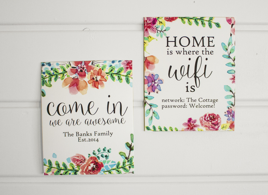 Watercolor Custom Wall Art Free Printable - Nufun Activities | Welcome Home Cards Free Printable