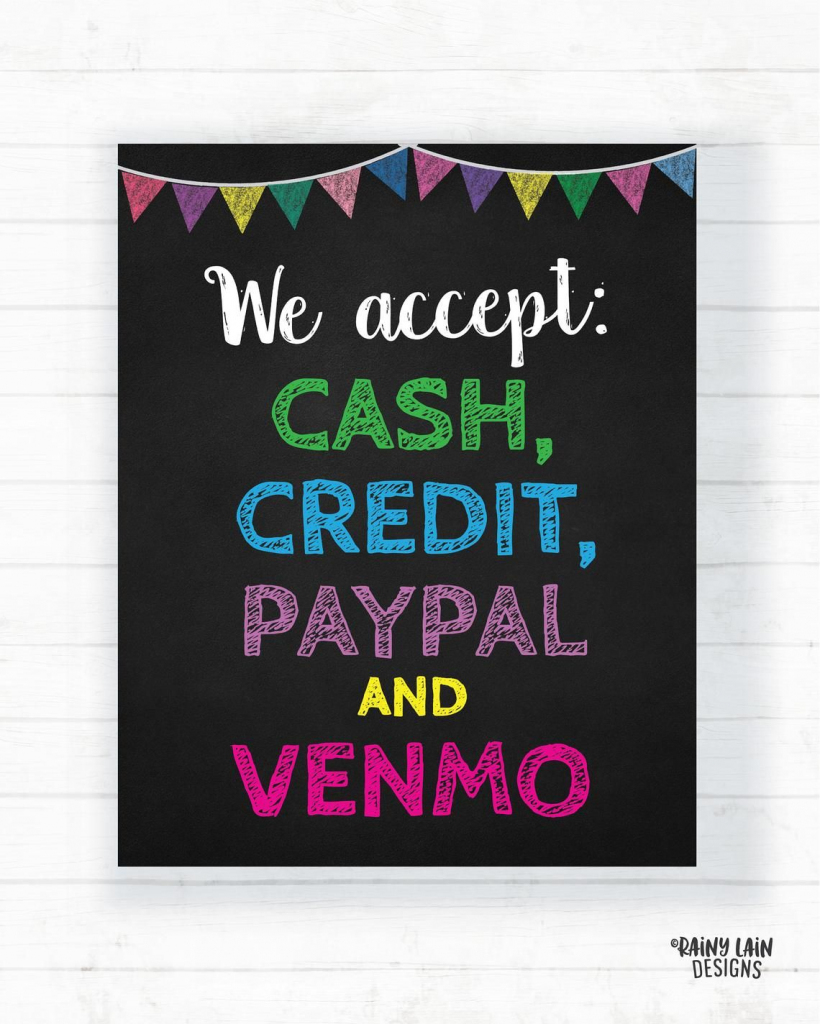 We Accept Credit And Debit Cards Sign Cookie Booth Printable Scout | Printable Credit Cards Accepted Sign