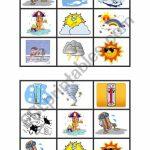 Weather Bingo Cards   Esl Worksheetonecostar | Esl Bingo Cards Printable