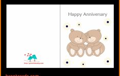 Wedding Anniversary Card Template – Canas.bergdorfbib.co | Anniversary Cards Printable For Parents