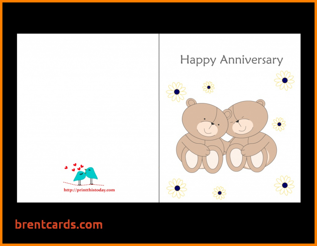 Wedding Anniversary Card Template - Canas.bergdorfbib.co | Anniversary Cards Printable For Parents