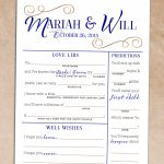 Wedding Mad Lib Guest Book Alternative Printable #216 In 2019 | [The | Printable Newlywed Game Cards