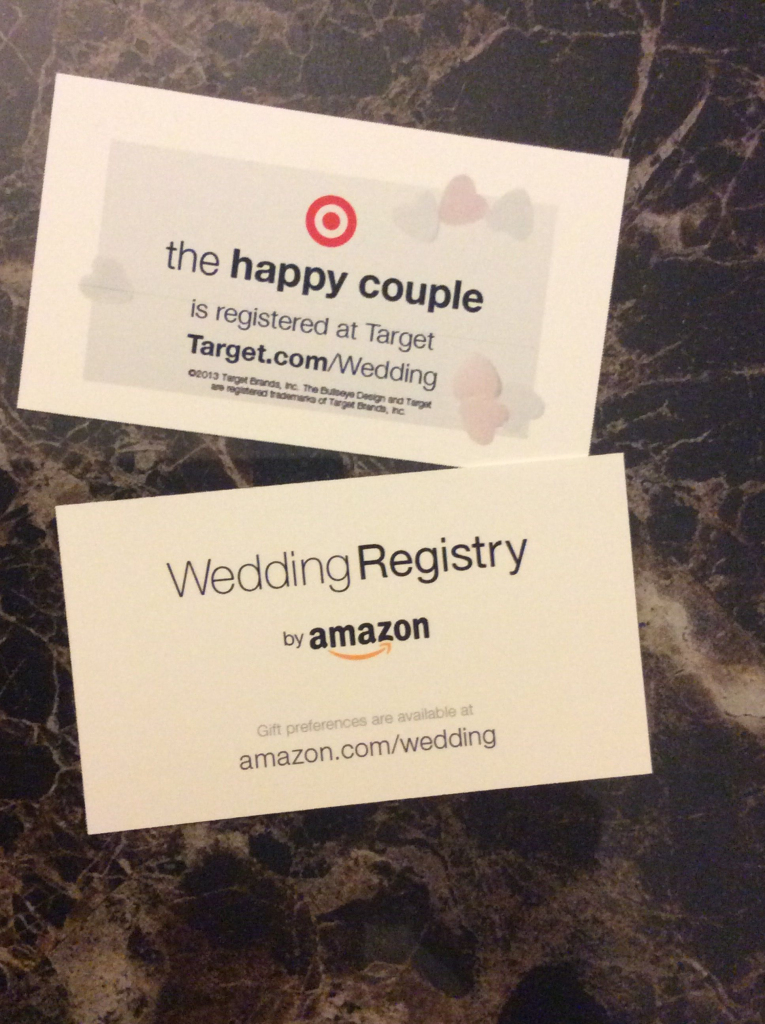 Wedding Registry!! Use Business Cards To Let People Know Where You | Printable Gift Registry Cards