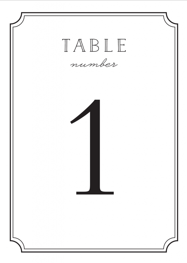 Wedding Table Numbers | Printable Pdfbasic Invite | Printable Number Cards 1 20