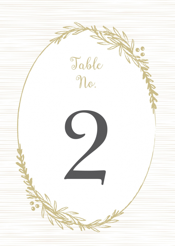 Wedding Table Numbers | Printable Pdfbasic Invite | Printable Table Number Cards
