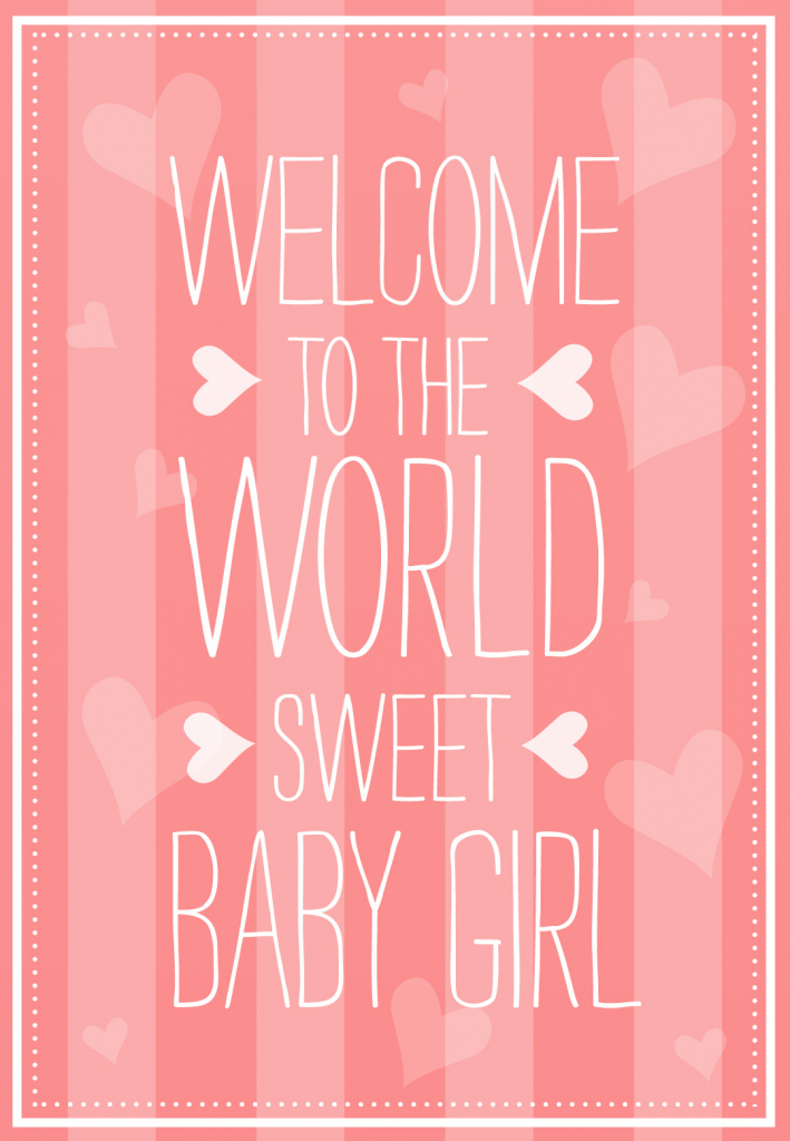 Welcome To The World - Baby Shower & New Baby Card | Greetings Island | Baby Greeting Cards Printable