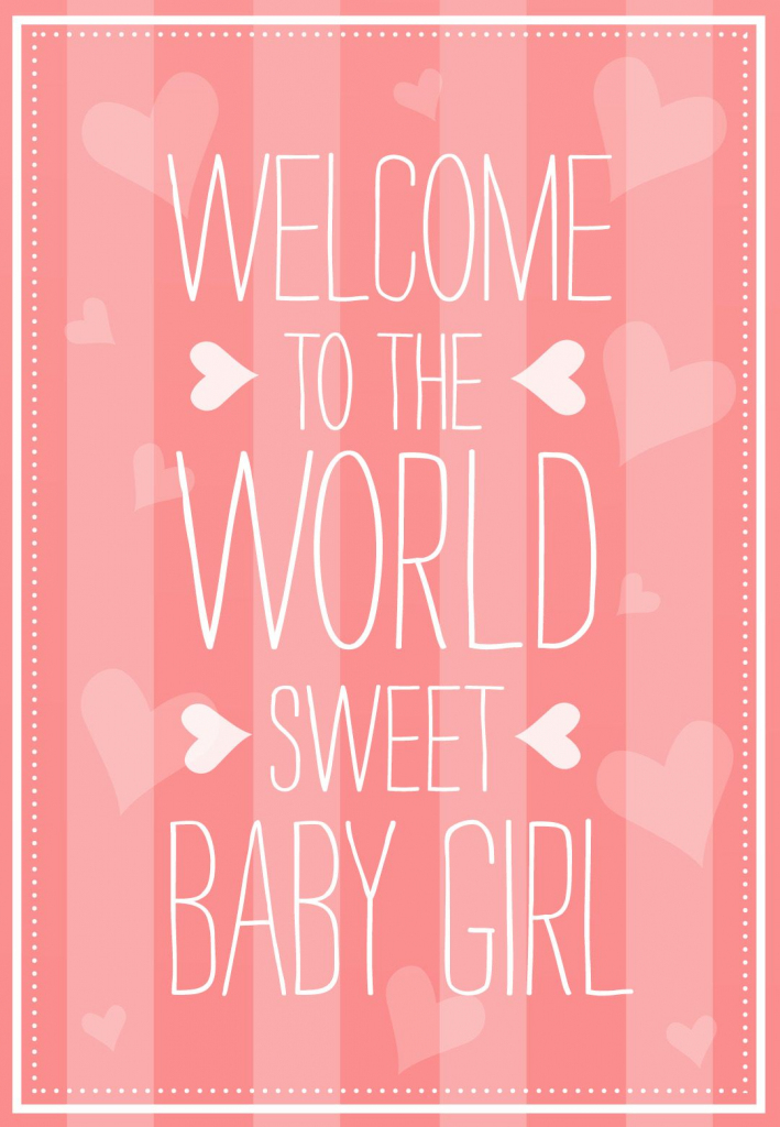 Welcome To The World - Free Baby Shower & New Baby Card | Greetings | Free Printable Welcome Cards