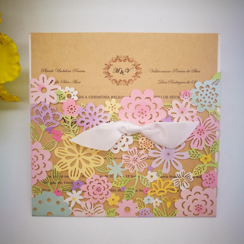 Wholesale Wedding Invitations Card Elegant Flowers Wedding Cards | Baby Shower Cards Online Free Printable