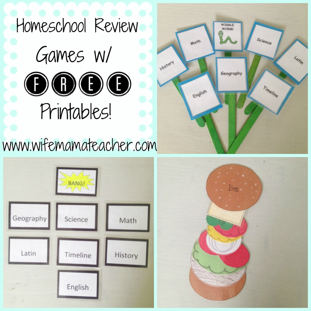 Wife, Mama, Teacher: Super Fun And Easy Homeschool Review Games | Bang Card Game Printable