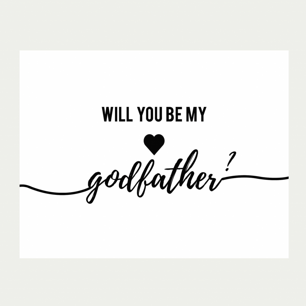 Will You Be My Godfather Card Printable Baptism Card | Etsy | Will You Be My Godfather Printable Card