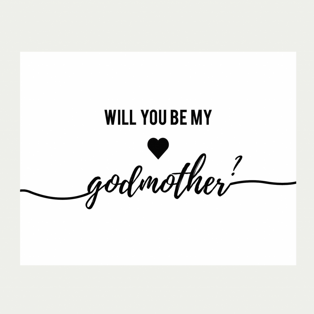 Will You Be My Godmother Card Printable Baptism Card | Etsy | Will You Be My Godmother Printable Card
