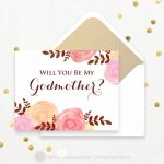 Will You Be My Godmother Printable Wedding Invitation Card | Etsy | Will You Be My Godmother Printable Card