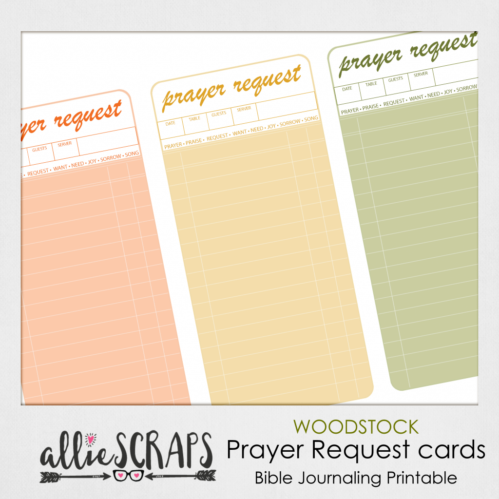 Woodstock | Prayer Request Cards Printable | Printable Prayer Request Cards