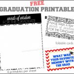 Words Of Wisdom Free Graduation Printables + More | Saving Money | Free Printable Graduation Advice Cards