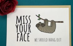 I Miss You Cards For Him Printable