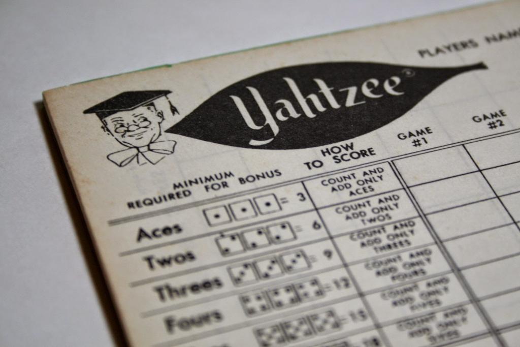 Yahtzee Online: Printable Yahtzee Score Sheet | Printable Yahtzee Score Cards Pdf