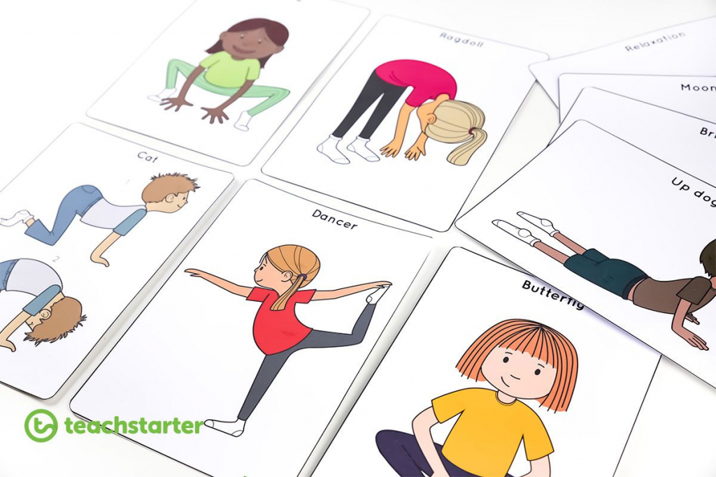 Yoga For Kids! Tips And Resources For Classroom Teachers | Music And | Printable Yoga Flash Cards For Kids