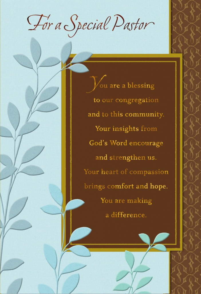 You're A Blessing, Pastor Anniversary Card - Greeting Cards - Hallmark | Hallmark Free Printable Fathers Day Cards