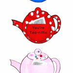 You're Tea Riffic Teapot Craft   Free Printable Teapot Template | Teapot Mother's Day Card Printable Template